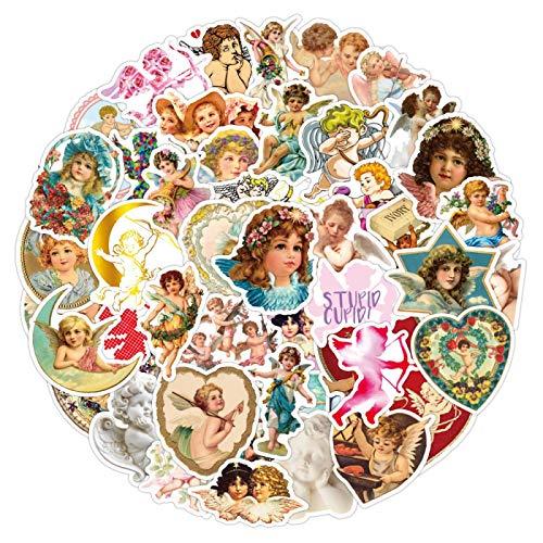 HHSM Etiquetas engomadas de Cupido vintage europeas y americanas Little Angel Equipaje Pegatinas Portátil Termos Pegatinas 50PCS