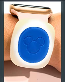 Disney Magicband 2 Puck Holder color Clear Glow in the Dark (2 pack) by Bitbelt