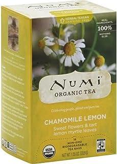 Numi Tea 19383-3pack Numi Tea Chamomile Lemon Herbal Tea - 3x18 bag