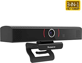 Tenveo 3-in-1 Webcam, 1080p Full HD USB Camera with Microphone and Speaker for Video Conferencing, Live Streaming, Broadcasting (TEVO-VA1000)
