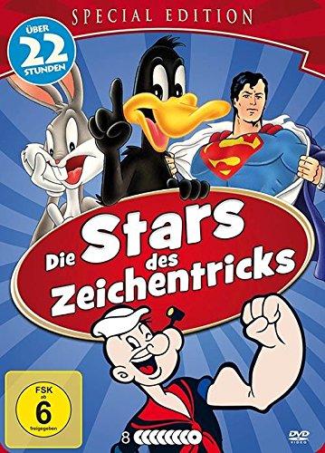 Die Stars des Zeichentricks : Popeye - Superman - Bugs Bunny - Felix ... 8 DVD Steel-Box