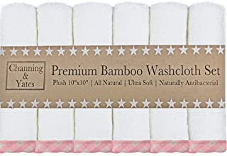 Channing & Yates - Premium Baby Washcloths - (6-Pack) Organic Bamboo Wash Cloths 2X Thicker & Softer - 10 x 10 in - Perfec...