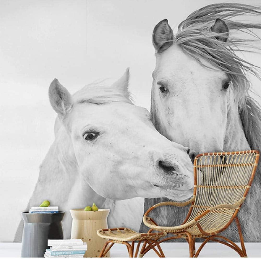 Pbldb 3D Wallpaper Modern White 5 popular Horse Bedroom Living Room Murals At the price