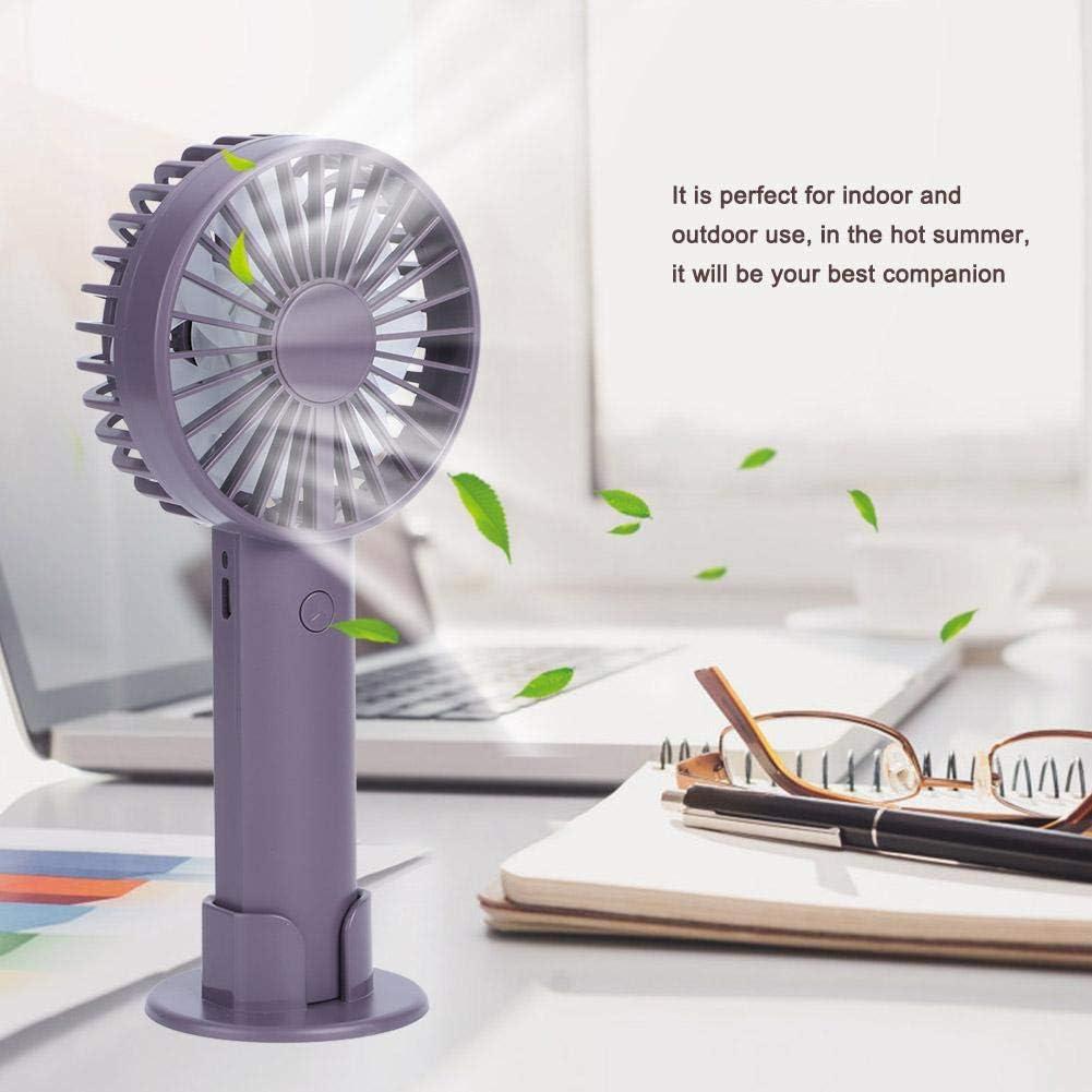 Atyhao Innovativer Mini-Handventilator mit Handyunterst/ützung Tragbarer batteriebetriebener Desktop-Ventilator im DREI-Gang-Modus mit USB-Akku f/ür Haushaltsreisen im B/üroraum im Freien Lila