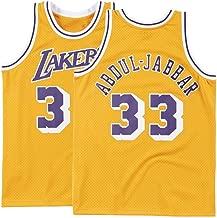 Nmfdz Mens Abdul Jabbar Jersey Los Angeles Adult #33 Kareem Basketball