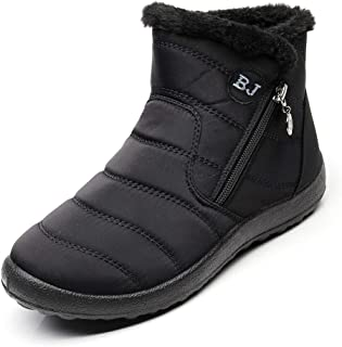 Stunner Women Warm Ankle Snow Boots Fur Lining Thickening Slip On Winter Shoes