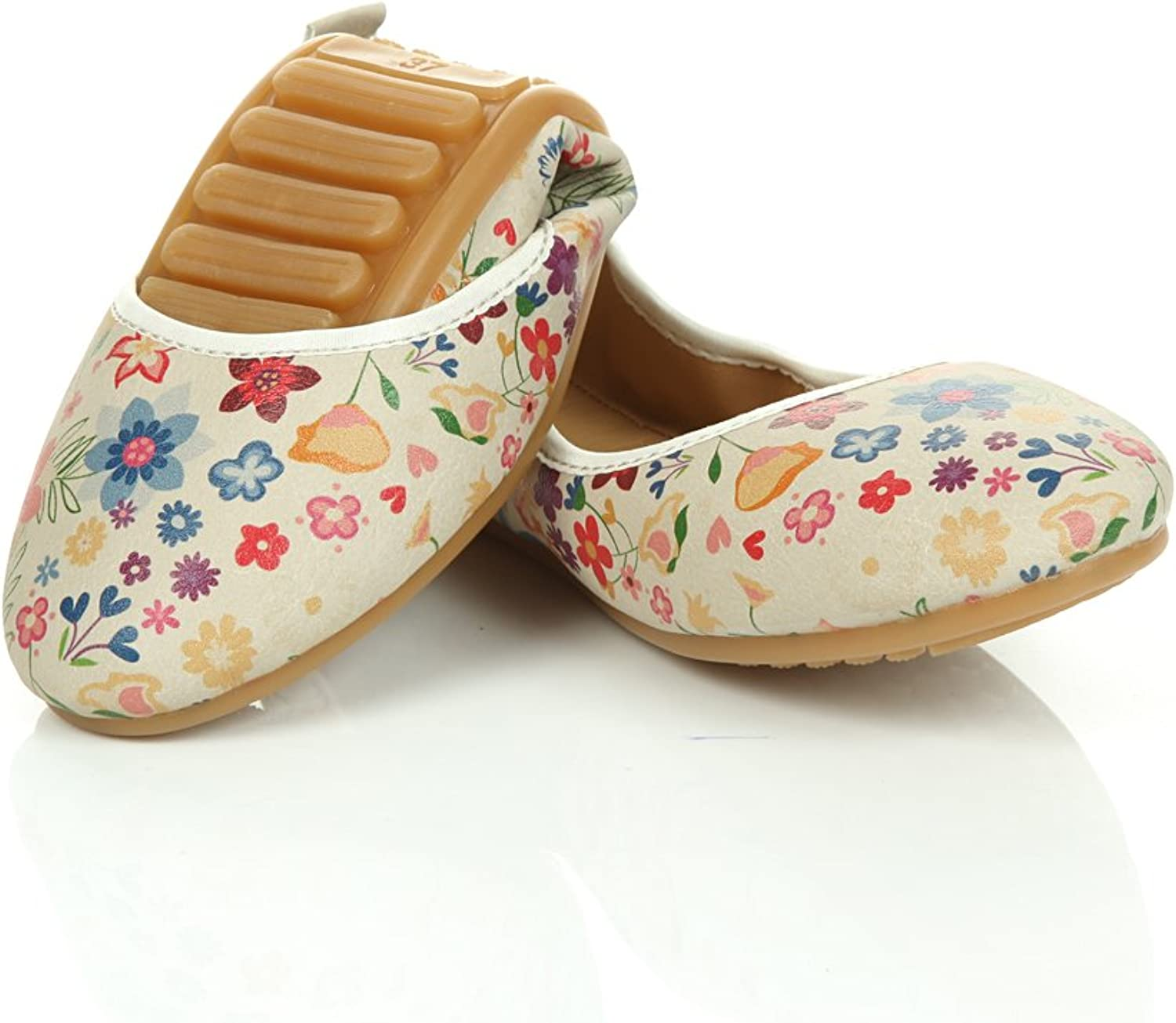 Goby Women's shoes  Flowers Foldable Ballet Flats  'PSP101'