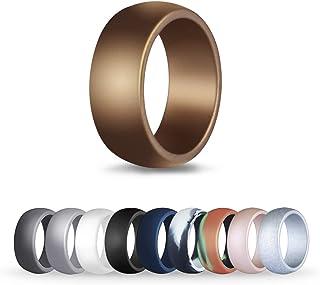 Rdawn 10pcs Silicone Wedding Sports Ring for Men,...