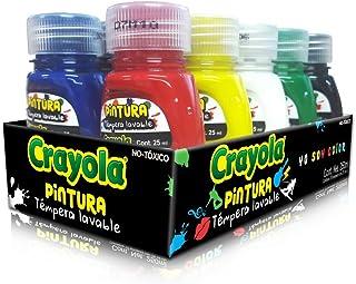 Crayola Pinturas Témpera Lavable, 25 ml, 10 Piezas
