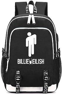 Billie Eilish Mochila Escolar para jóvenes Estudiantes Mochila Informal para Hombres y Mujeres Mochila para computadora de Gran Capacidad