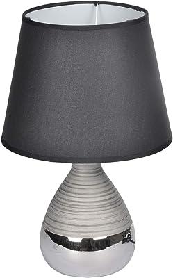 HOMEA 6LCE131NR Lampe, CERAMIQUE, 40 W, Noir, DIAMETRE20H30CM