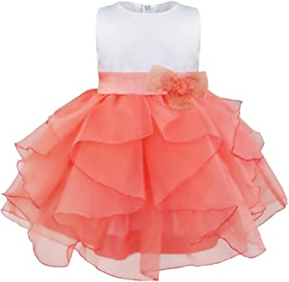 TiaoBug Baby Girls Princess Organza Ruffle Wedding Pageant Birthday Party Dress