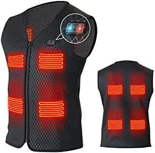 LEADNOVO Heated Vest for Men Women with 8 Heating Panels-Not Included Power Bank/Battery