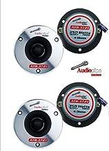(2 Pair) Audiopipe ATR-3721 350W Max 4 Ohm Titanium Super Bullet Tweeters