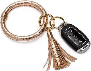 Wristlet Keychain Creative Large Circle Tassel Bracelet Bangle Keyring Bracelet Keychain Key Holder Ring