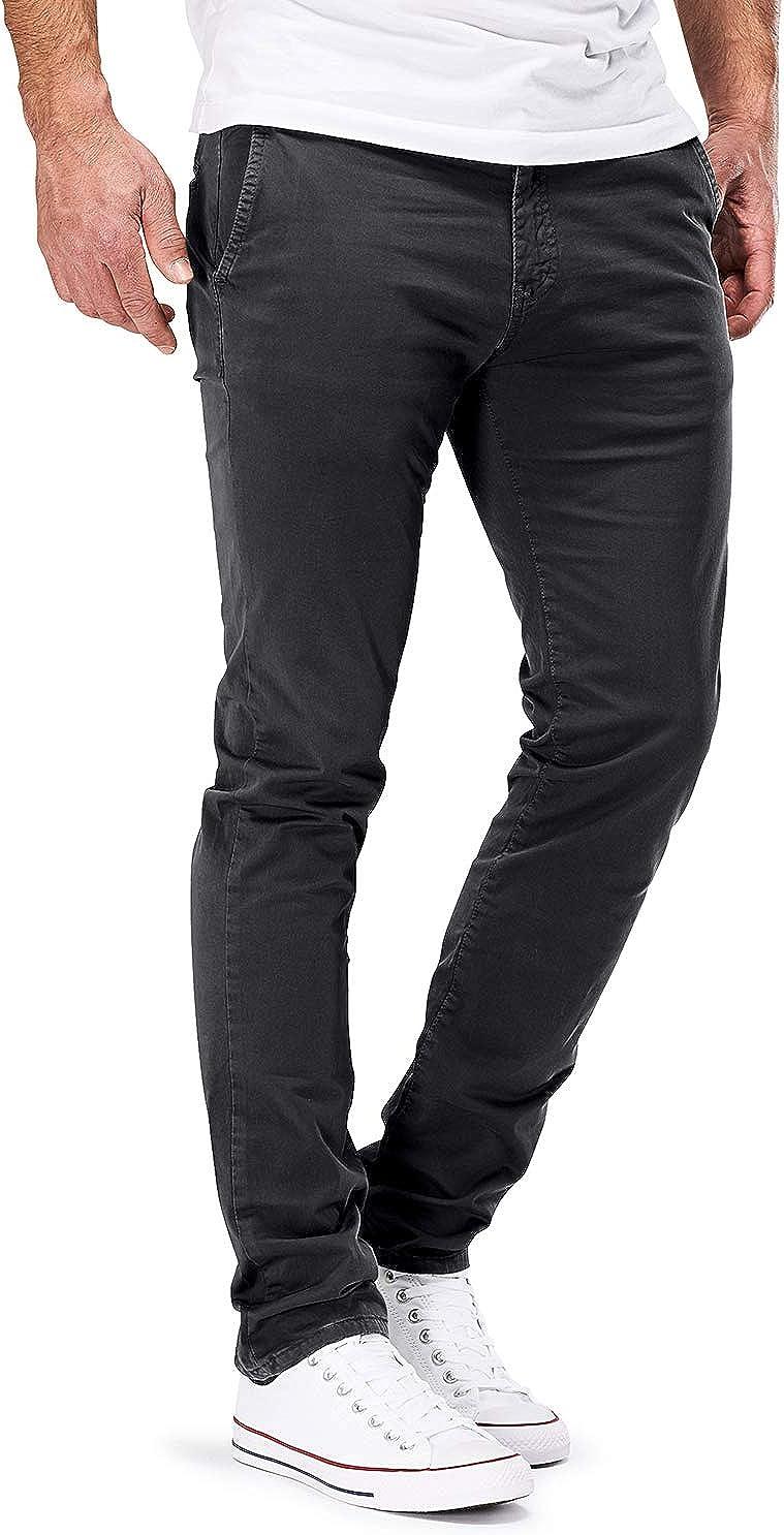 DSTROYED /® Chino Slim Fit Pantalones chinos el/ásticos para hombre
