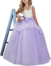 NNJXD Girls Flower Wedding Dresses Lace Princess Pageant Dress Prom Ball Gown