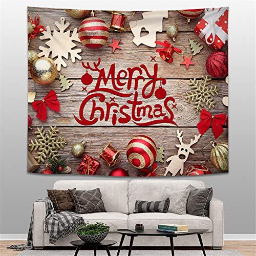 Amarillo maíz decoración del hogar tapiz montado en la pared Navidad fondo rojo salón dormitorio