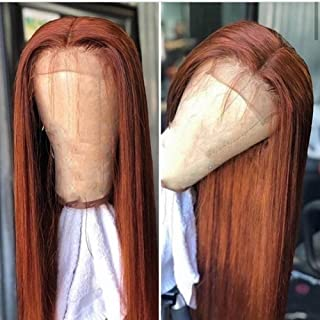 13x6 Lace Frontal Human Hair Wigs Ombre Brown Color Hair Glueless Full Lace Straight Hair 150% Density for Black Women with Baby Hair by YOKADA HAIR (20inch, 13x6 lace wig)