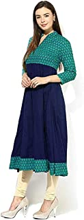 AnjuShree Choice Women's Cotton Anarkali Kurti