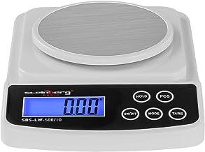 Steinberg Balance de Précision Cuisine Professionnelle SBS-LW-500/10 (500 g / 0,01 g, surface de pesée 12 cm, 6 unités de ...