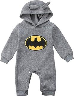 Grenouillère Batman à manches longues pour bébé garçon de 0 à 24 mois