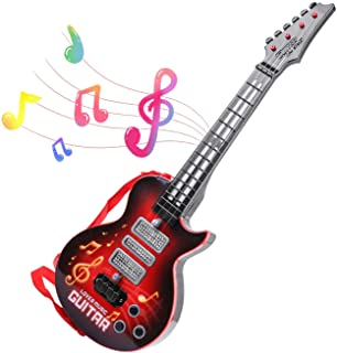 M SANMERSEN Kids Guitar Electric Battery Operated Toy Guitar Musical Instruments Educational Toy for Boys Girls Toddlers