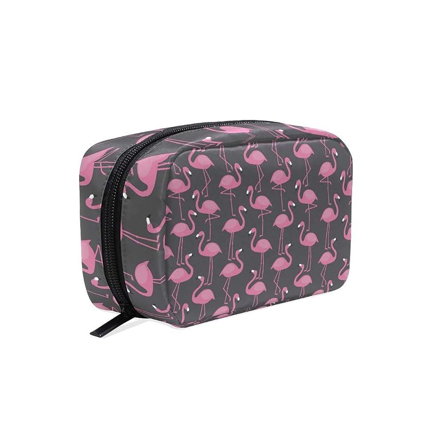 スローオアシス概念フラミンゴ 女の子 マルチコンパートメント 化粧品 アクセサリー ジュエリー 電子製品 浴室 休暇 ジム 用収納袋 Flamingos