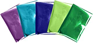 """We R Memory Keepers Heat Activated Foil, Peacock, Set of 30 Sheets in 5 Colours, 4x6"""", Use with Quill Pen to Create Shiny ..."""