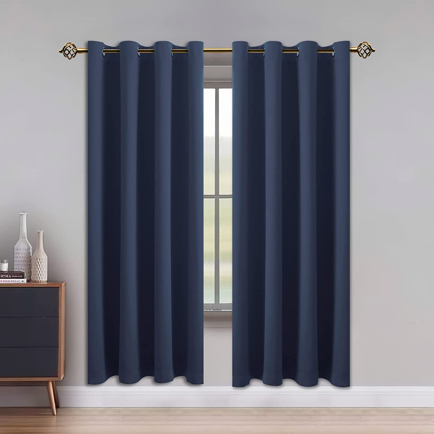 LUSHLEAF Blackout Curtains for Max 58% OFF Insulated Direct store Bedroom Thermal Solid