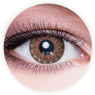 Dahab Topaz Contact Lenses, Unisex Dahab Cosmetic Contact Lenses, 9 Months Disposable- Eye Enlargement Collection, Topaz (...