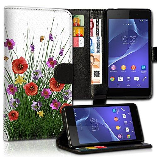 wicostar Book Style Wiko Bloom Premium PU-Leder Tasche Flip Brieftasche Handy Hülle Kartenfächer mit Standfunktion für Wiko Bloom - Design Flip MVC143