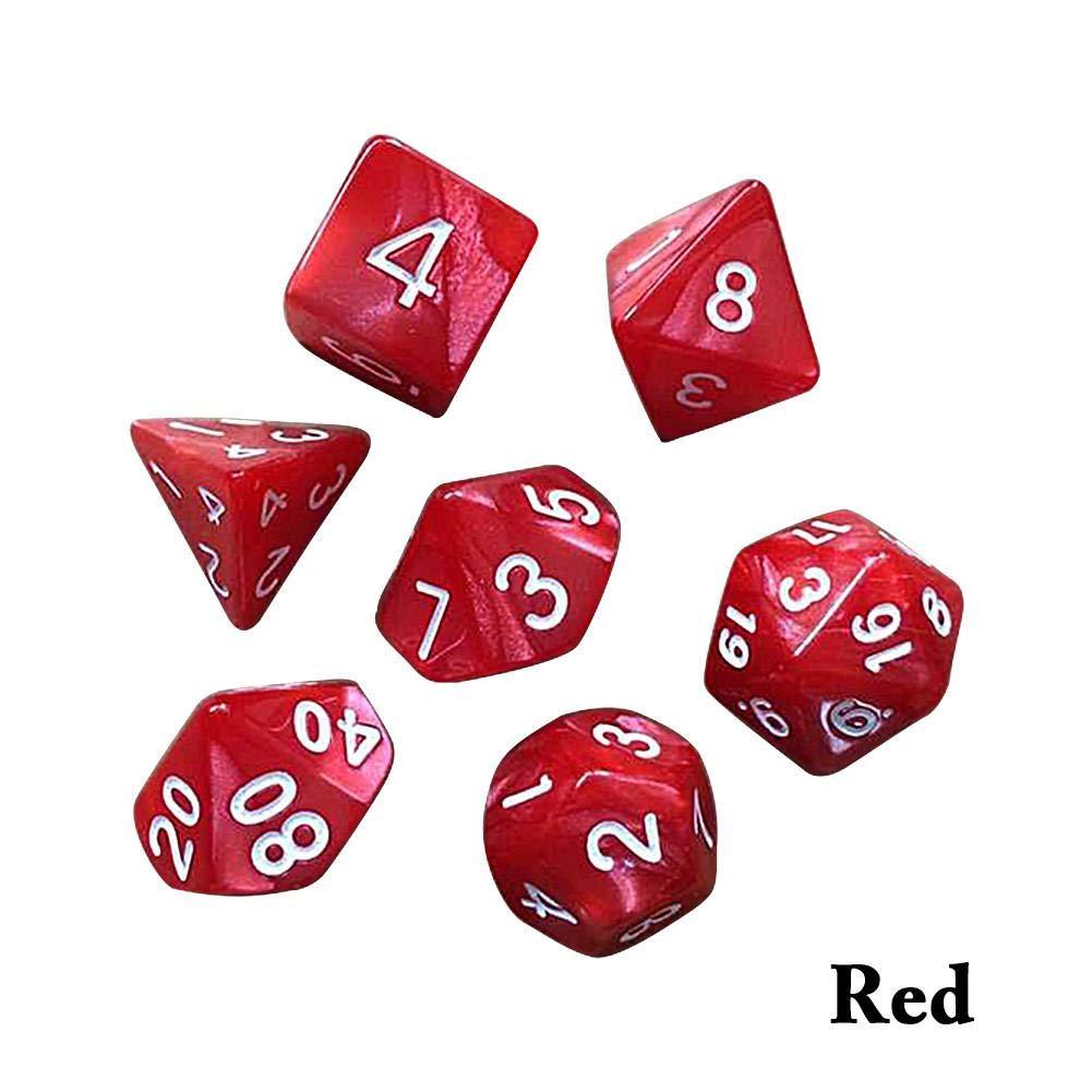 7pcs / Set Dados poliédricos Juego de Dados de Metal DND Dungeons & Dragons Dice Juegos de rol Dados para Shadowrun, Pathfinder, Savage World, Warhammer: Amazon.es: Hogar