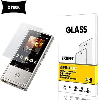 【2枚セット】Sony Walkman NW-ZX100 ガラスフィルム,強化ガラス液晶保護フィルム 【ZKBEET】 (硬度 9H,Glass)Sony Walkman NW-ZX100スムースタッチ 撥水・防水 防指紋 耐衝撃 耐久性 撥油性 高透過率 超薄 HD画面 [ 日本製硝子 ] [ 約3倍の強度 ] Sony Walkman NW-ZX100