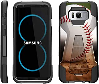 TurtleArmor | Compatible Samsung Galaxy S8 Case | G950 [Dynamic Shell] Dual Hybrid Hard Impact Silicone Cover Kickstand Sp...