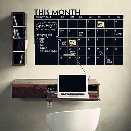 Month Plan Calendar Chalkboard Blackboard Vinyl Wall Sticker Office Family Big A