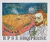 Goldhahn Gemälde Blocks mit Albanien Block 92 gestempelt Briefmarken für Sammler