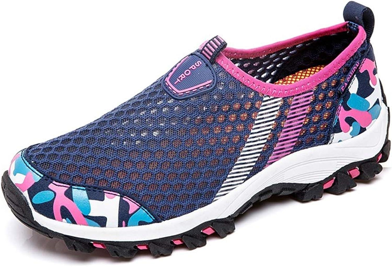 HNZYZJ Outdoor-Mesh-Schuhe, Rutschfeste, Atmungsaktive Damenschuhe, Wanderschuhe, Atmungsaktive Turnschuhe  | Große Klassifizierung