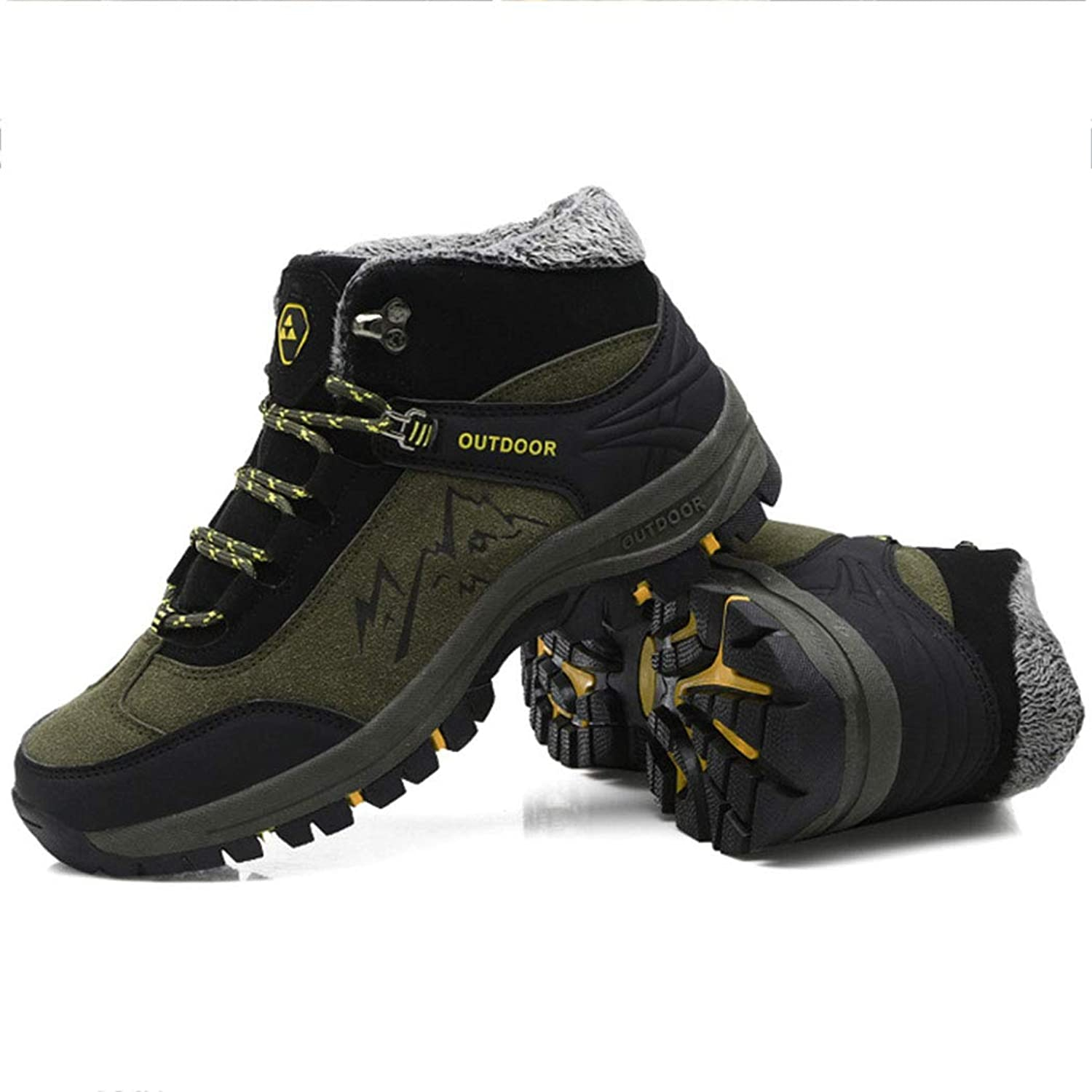 Men's Hiking shoes Winter Plus Velvet Warm Sports shoes Outdoor Cross-Country Hiking shoes