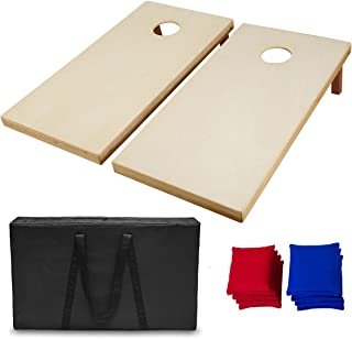 AceLife Solid Wood Premium Cornhole Set with 8 Bean Bags and Carrying Case