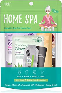 Home Spa Kit | Head to Toe Korean Beauty | Socks and Gloves, Hair Mask, Facial Care | 6 Items Included