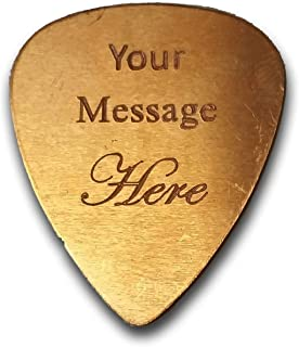 Personalized Add Your Own Engraved DOUBLE SIDED Text Guitar and Bass Pick Custom Customizable Gift COPPER (Double Side Engraving)