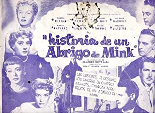 Mexican Pressbook Historia De Un Abrigo De Mink Irasema Dilian Silvia Pinal
