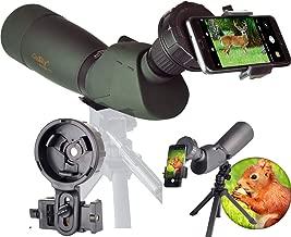 Gosky Skyhawk 20-60x82mm Ultra HD Spotting Scope Kit- Waterproof Frogproof Zoom Telecope for Bird Watching Target Shooting Archery Range Outdoor-with Tripod Case Digiscoping Adapter