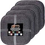 Gorilla Grip Original Premium Memory Foam Chair Cushions, 4 Pack, 16x16 Inch, Thick Comfor...