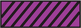 Surgical Instrument Identification Sheet Tape Diagonal Black Stripe Purple