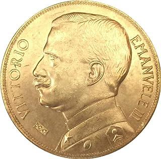 Chaenyu 1912 Moneta Italiana 50 Lire Rame Puro Dorato Argento Antico Dollaro Collezione Artigianale Decoro commemorativo