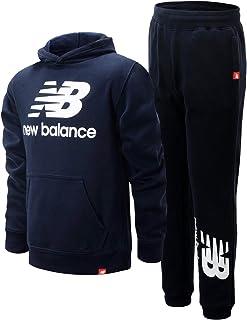 New Balance Boys' Jogger Set - 2 Piece Pullover Hoodie Sweatshirt and Sweatpants Activewear Set (Big Boy), Size 8, Eclipse