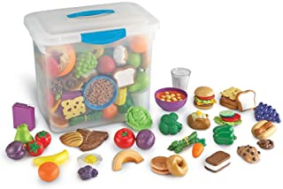Learning Resources New Sprouts Classroom Play Food Set, 100 Pieces - LER9723,Multi,12 L x 7 W x 12 H in