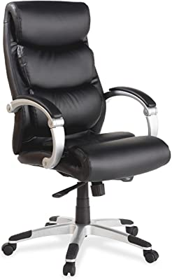 Lorell High-Back Executive Chair with Flex Arms, 27-Inch by 30-Inch by 46-1/2-Inch, Black